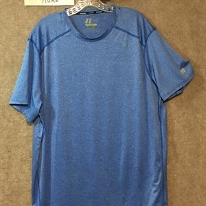 RUSSELL 2 XL EXERCISE ATHLETIC WORKOUT TEE BLUE